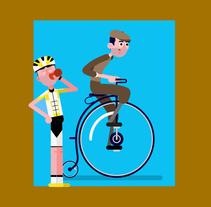 Bikers de ayer y de hoy (Mi Proyecto del curso: Animación y diseño de personajes en After Effects). Um projeto de Design de personagens e Animación de personajes de Sergio Pérez Tejero         - 26.02.2018