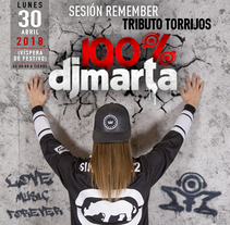 Imagen Fiesta 100% Dj Marta 2018 . A Graphic Design project by Fernando Escolar López-Roso         - 05.03.2018