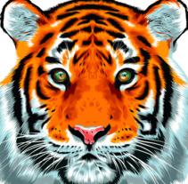 Tiger Vector Illustration. Un proyecto de Ilustración vectorial de Alessandra Stanga         - 12.03.2018