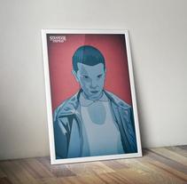 Diseño de póster sobre la serie Stranger Things. Um projeto de Design, Ilustração, Design gráfico e Ilustración vectorial de Javi Rodríguez         - 15.03.2018