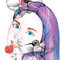 Mi Proyecto del curso: Retrato ilustrado en acuarela. Un proyecto de Ilustración de knife555         - 04.04.2018