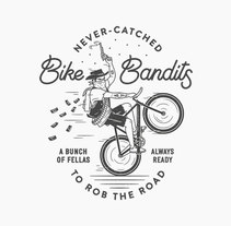 BIKE BANDITS. A Illustration, Art Direction, Graphic Design, and Lettering project by Chris Lago         - 02.06.2017